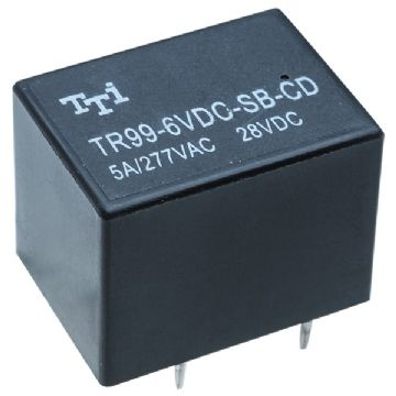 Miniature PCB DPDT Power Relay 6VDC Coil 5A Pack of 1